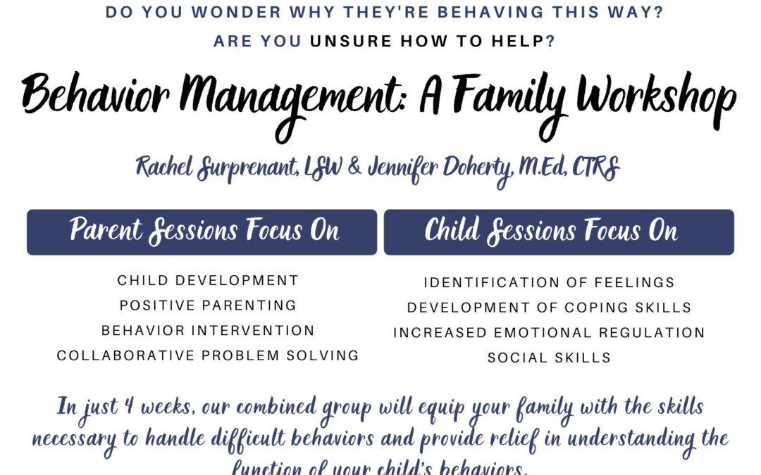 Behavior Management: a Family Workshop